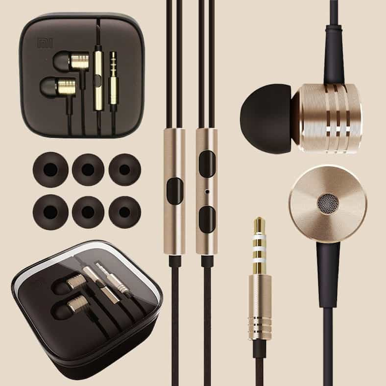 100-New-Original-XIAOMI-Piston-Earphone-Gold-Headphone-Headset-with-Remote-Mic-for-MI2-MI2S-MI2A